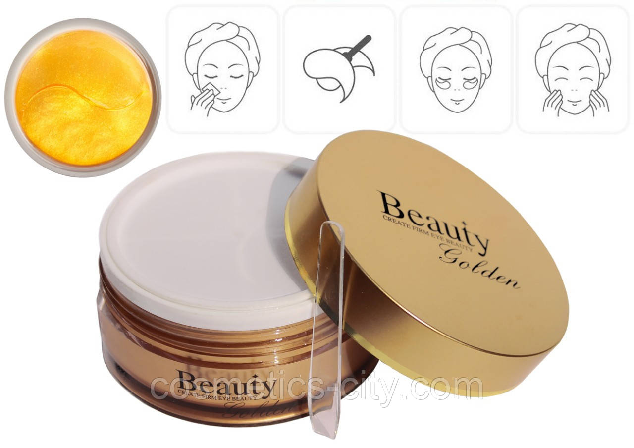 Гидрогелевые золотые патчи Beauty Golden Create Firm Eye Beauty 60 шт