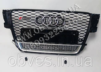 Решетка радиатора Audi A5 в стиле RS5 (2007-2011) Black + Quattro