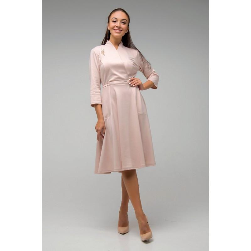Красивое платье Венера бежевый(44-52)