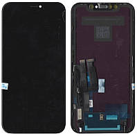 Дисплей (модуль) iPhone XR с cенсором Черный (оригинал) PRC