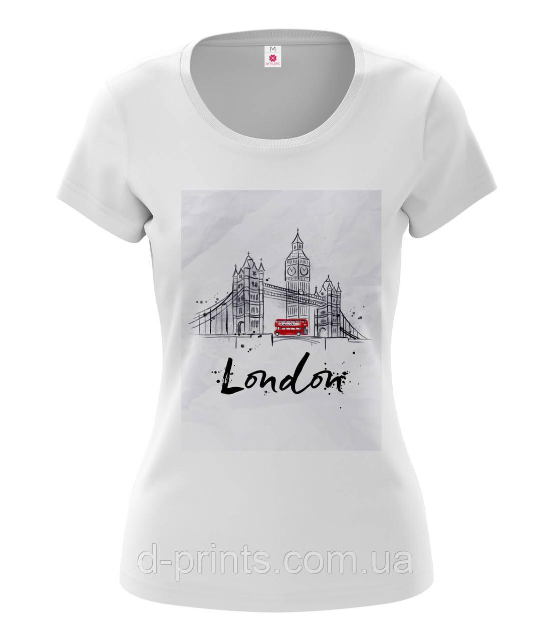 """Футболка женская с рисунком """"London """""""