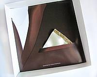 Паше (нагрудный платок для пиджака) айвори треугольный блестящий