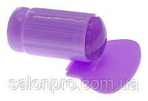 Односторонний силиконовый штамп и скрапер для стемпинга, сиреневый