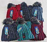 М 5032 Комплект для хлопчика: шапка+манішка 3-12 років, акрил, фліс, різні кольори, фото 3