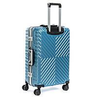 PODIUM Дорожная Чемодан 1 Маленький ABS-пластик 07 blue замок