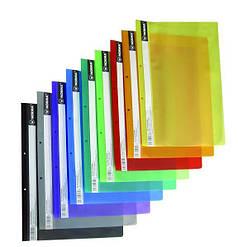 Скоросшиватель пластиковый с прозрачным верхом А4, РР цвета в ассортименте глянцевый 5262, NORMA