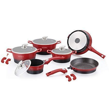 Набор посуды Royalty Line RL-ES2014M red