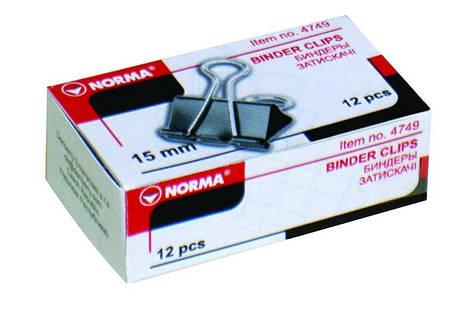 Биндеры 51мм черные 12 шт 4754 NORMA, фото 2