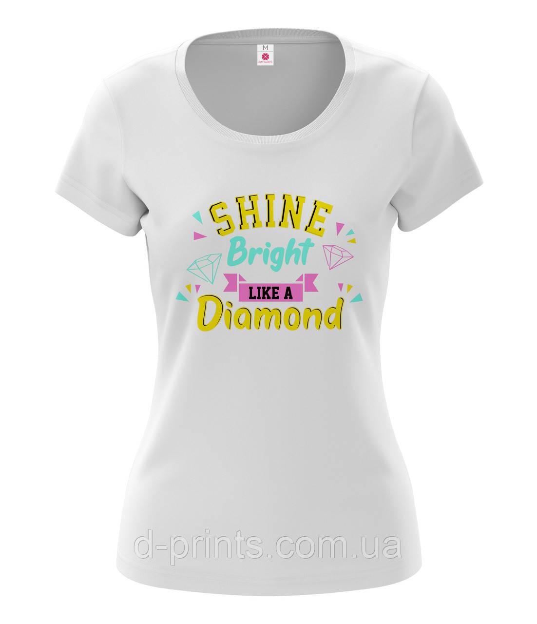 """Футболка женская с рисунком """"Diamond """""""