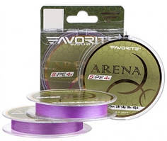 Шнур Favorite Arena PE 4x 100m (purple) #0.4/0.104mm 8lb/3.5kg