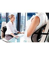 Ортопедическая поясничная поддержка для спины на любиые стулья и кресла