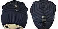 М 5042 Шапка мужская с кнопкой, акрил, флис, размер свободный, фото 1