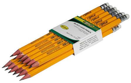 Карандаш графитный HB с ластиком 4-100 4OFFICE, фото 2