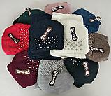 М 5043 Комплект женский: шапка+хомут,марс, флис, размер свободный, фото 3