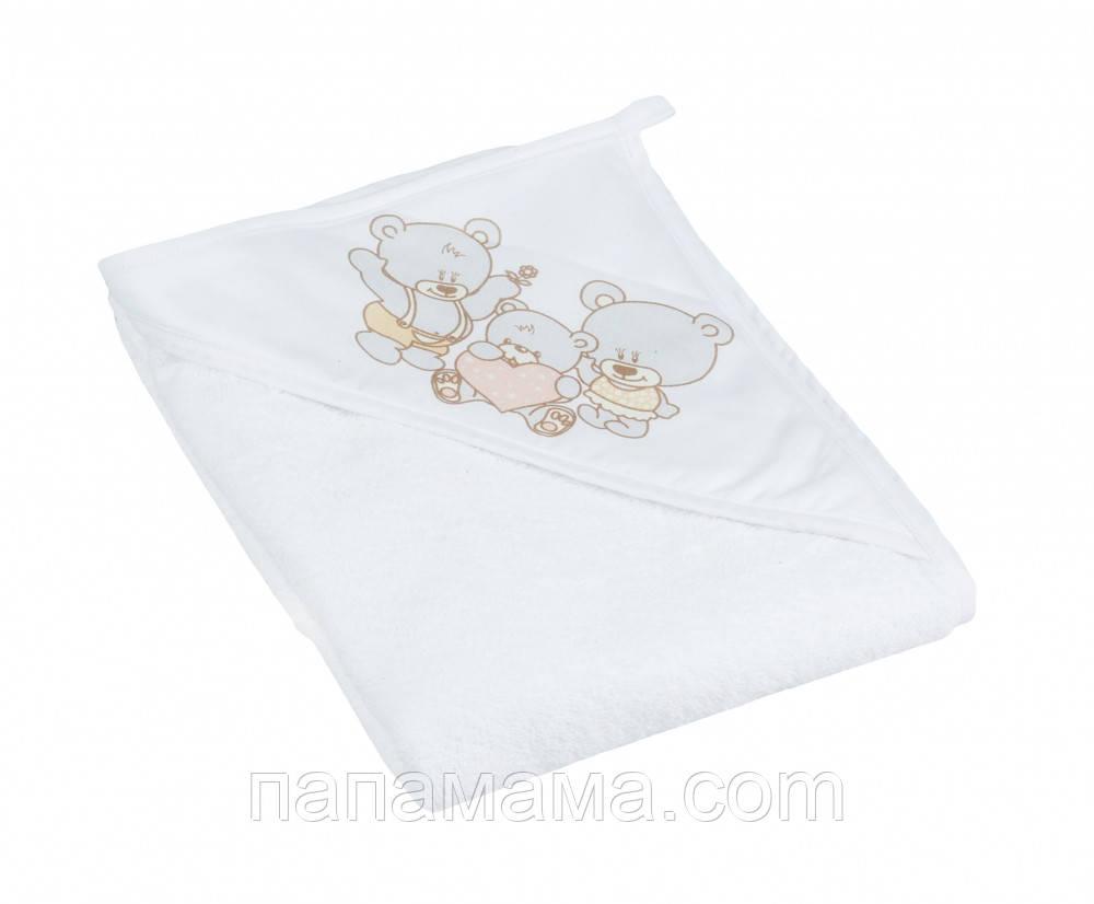 Детское полотенце с капюшоном Tega Мишки