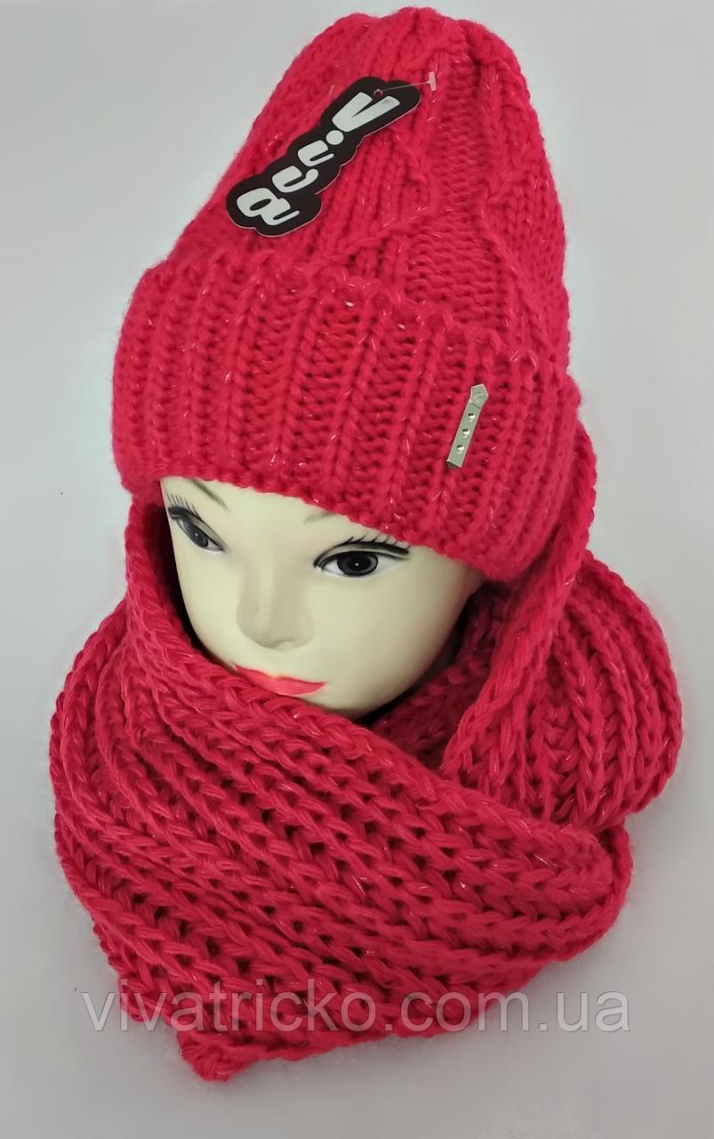 М 5046 Комплект женский-подростковый шапка+хомут-восьмерка, марс, размер универсальный