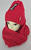 М 5046 Комплект женский-подростковый шапка+хомут-восьмерка, марс, размер универсальный, фото 1