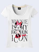 Женская 3D футболка MINNIE MOUSE IS FASHION ICON