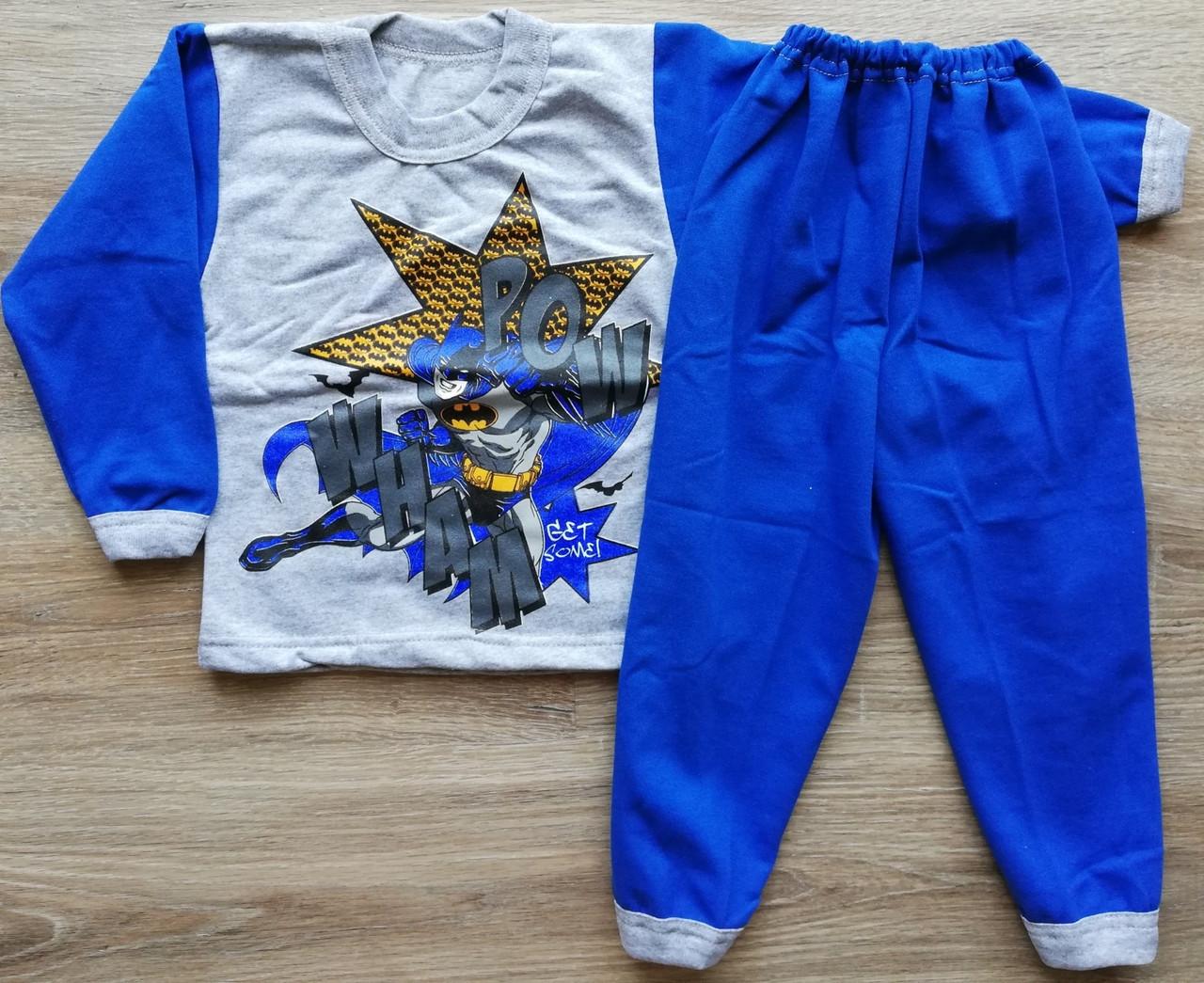 Детская тёплая пижама на байке БЭТМЕН на мальчика размер 28