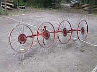 Грабли-ворошилки Украина-Польша (Солнышко) толщина граблины 6,0 мм для минитрактора (порошковая покраска красн
