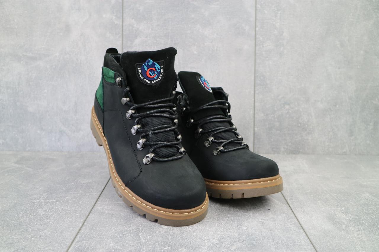 Мужские ботинки кожаные зимние черные Cardio 179