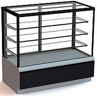 Витрина Carboma Cube 1.3д прямое стекло, кондитерская
