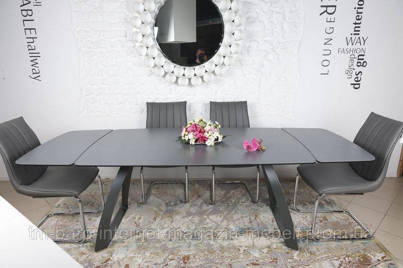 Стол обеденный LONDON (160/240*90*75cmH) керамика мокрый асфальт, Nicolas
