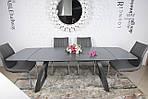 Стол обеденный LONDON (160/240*90*75cmH) керамика мокрый асфальт, Nicolas, фото 3