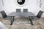 Стол обеденный LONDON (160/240*90*75cmH) керамика мокрый асфальт, Nicolas, фото 4