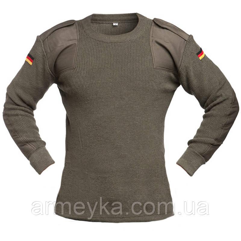 Шерстяной свитер (пуловер) BW, олива. Германия, оригинал.