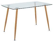 Стол Итали (ноги: под дерево) (прозрачный)