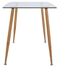 Стол Итали (ноги: под дерево) (прозрачный), фото 3