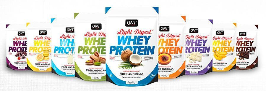 QNT_Light Digest Whey Protein 500 г - Coco