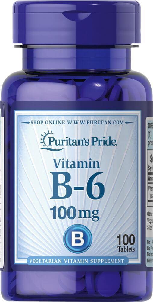 PsP Vitamin B-6 (Pyridoxine Hydrochloride) 100 mg - 100 таб