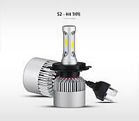 Комплект LED ламп HeadLight S2 H4 5000K 8000lm с вентилятором