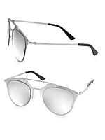 Женские серебристые солнцезащитные очки навигаторы AQS, фото 1