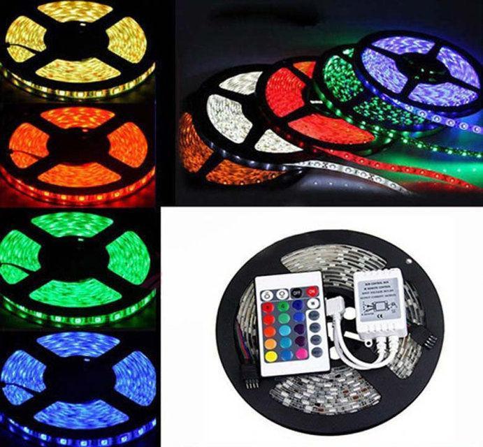 Светодиодная лента LED 5050 RGB комплект 4.5 метров, разноцветная
