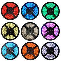 Светодиодная лента LED 5050 RGB комплект 4.5 метров, разноцветная, фото 2