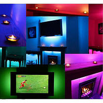 Светодиодная лента LED 5050 RGB комплект 4.5 метров, разноцветная, фото 3
