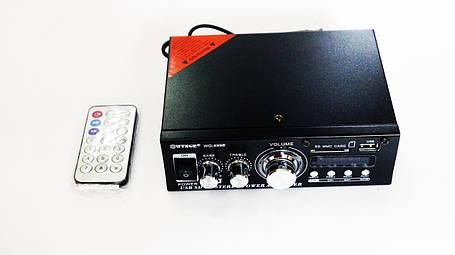 Усилитель WVNGR WG-699BT USB Блютуз 300W+300W 2х канальный, фото 2