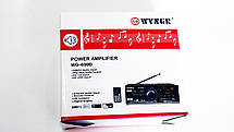 Усилитель WVNGR WG-699BT USB Блютуз 300W+300W 2х канальный, фото 3