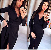 Черное платье-халат Janett (Код MF-413)