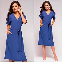 Синее платье-халат Nora (Код MF-403)