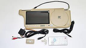 """Авто козирок 7"""" DVD+USB+SD Бежевий"""