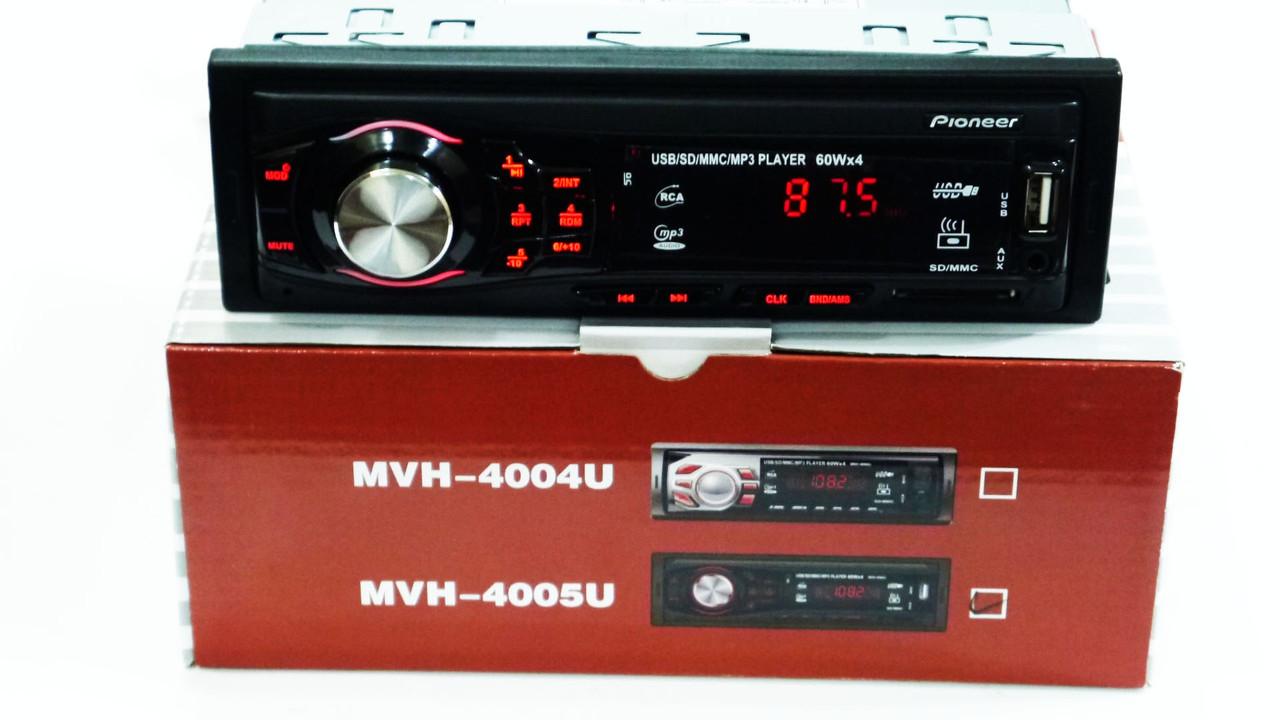 Автомагнитола Pioneer MVH-4005U ISO - MP3 Player, FM, USB, SD, AUX