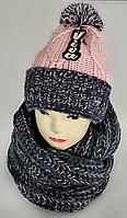М 5049 Комплект женский-подростковый: шапка+хомут, марс, размер универсальный, фото 1