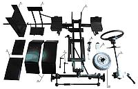 Комплект для переоборудования мотоблока в мототрактор №4 (гидравлическая тормозная система) (КТ12)