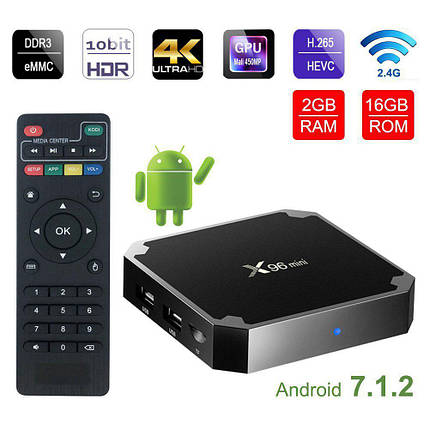 TV Box X96 Mini: Amlogic S905W, Android 7.1.2 ТВ приставка, фото 2