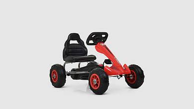 Карт педальный BAMBI.M4036-3.Железный.Надувные колеса.Красный