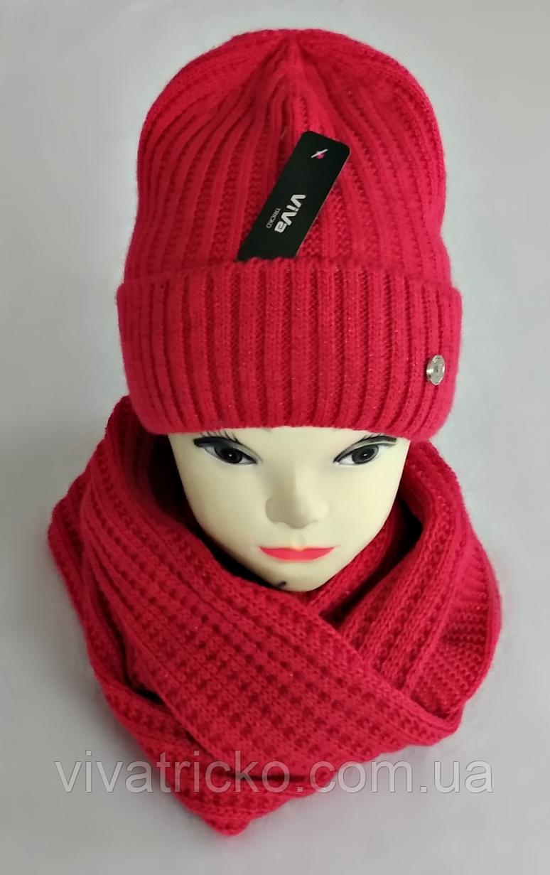 М 5062 Комплект женский-подростковый шапка+хомут, марс, флис, размер универсальный